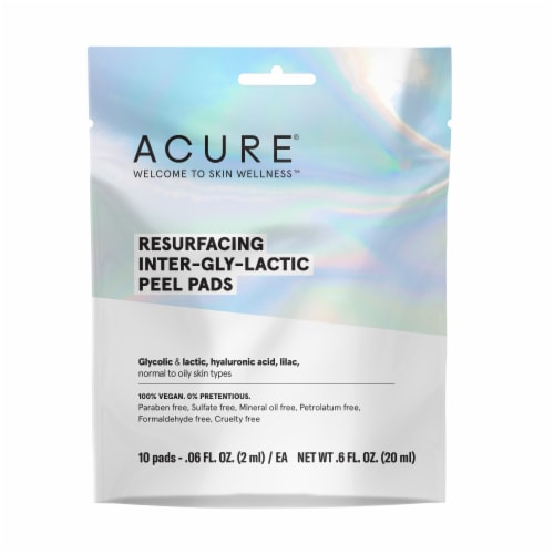 Acure Resurfacing Inter-gly-lactic Peel Pads Perspective: front