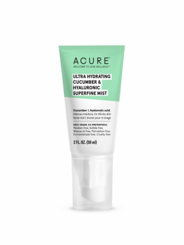 Acure Ultra Hydrating Cucumber & Hyaluronic Superfine Mist Facial Moisturizer Perspective: front