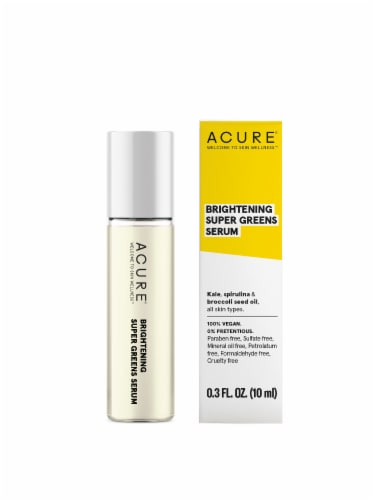 Acure Brightening Super Greens Facial Serum Perspective: front
