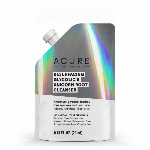 Acure Resurfacing Glycolic & Unicorn Root Cleanser Perspective: front