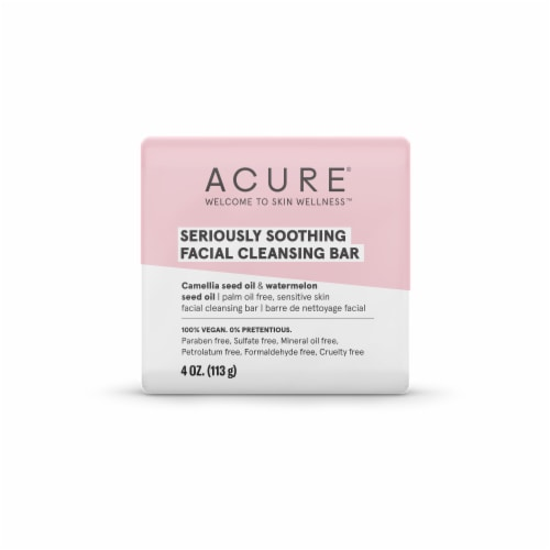 Acure Seriously Soothing Facial Cleansing Bar Perspective: front