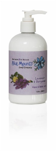 Blue Mound Lavender & Bergamot Hand & Body Lotion Perspective: front