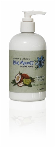 Blue Mound Coconut & Lime Hand & Body Lotion Perspective: front