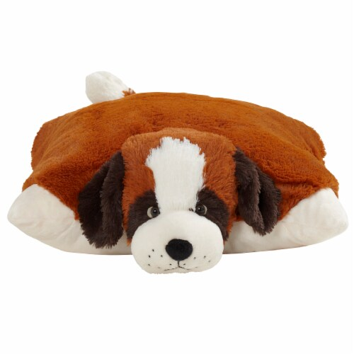 Pillow Pets St. Bernard Plush Toy Perspective: front