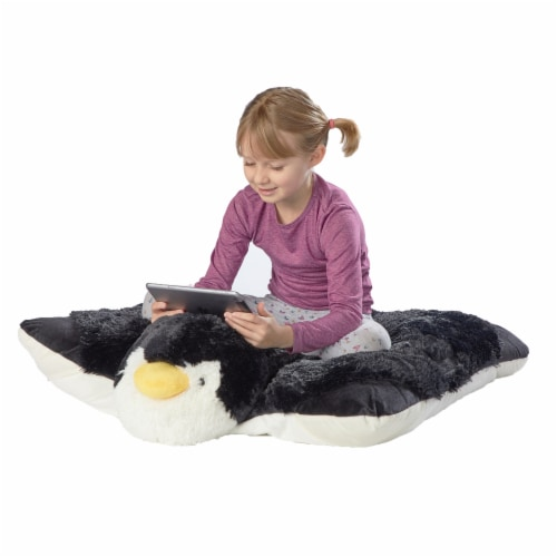 Pillow Pets Jumboz Playful Penguin Plush Toy Perspective: front