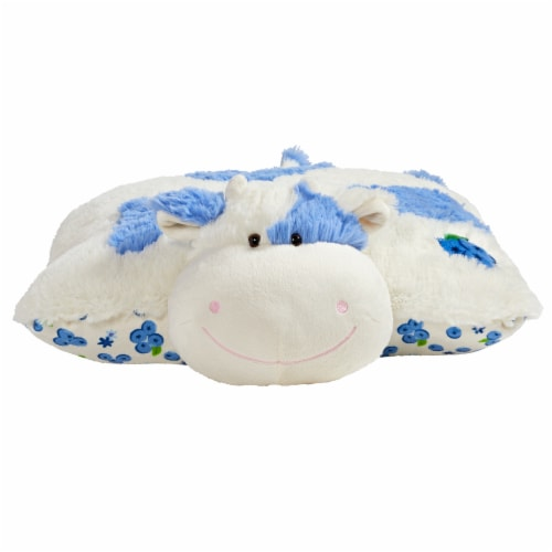 Pillow Pets Sweet Blueberry Scented Cow Plush Toy Perspective: front
