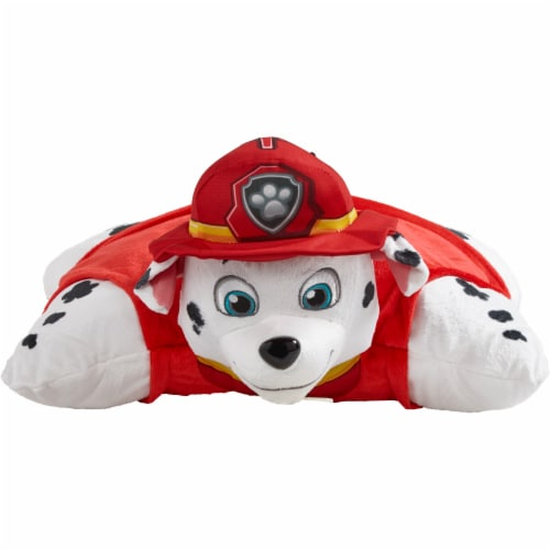 Pillow Pets Jumboz Nickelodeon Paw Patrol Marshall Plush Toy Perspective: front