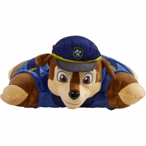 Pillow Pets Jumboz Nickelodeon Paw Patrol Chase Plush Toy Perspective: front