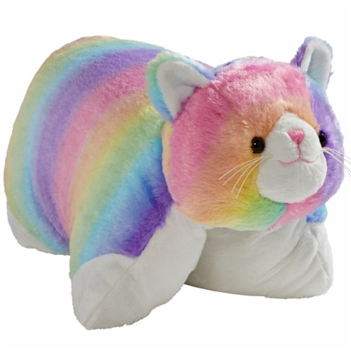 Pillow Pets Original Cosmic Cat Plush Toy Perspective: front