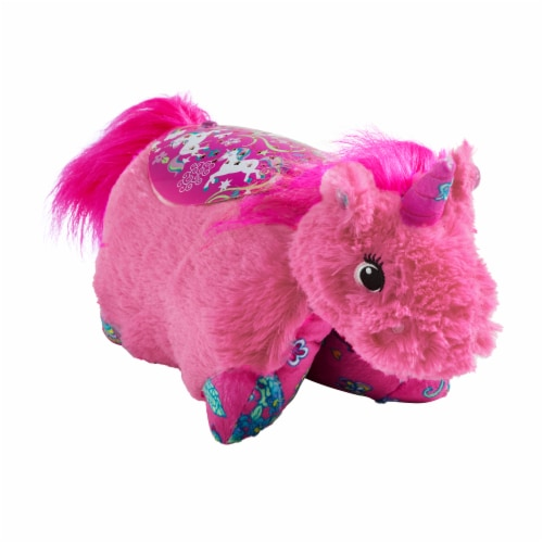 Pillow Pets Sleeptime Lite Colorful Unicorn Plush Toy - Pink Perspective: front