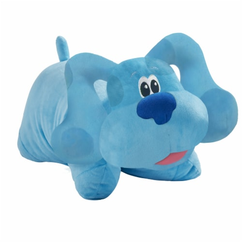 Pillow Pets Nickelodeon Blue's Clues Blue Plush Toy Perspective: front