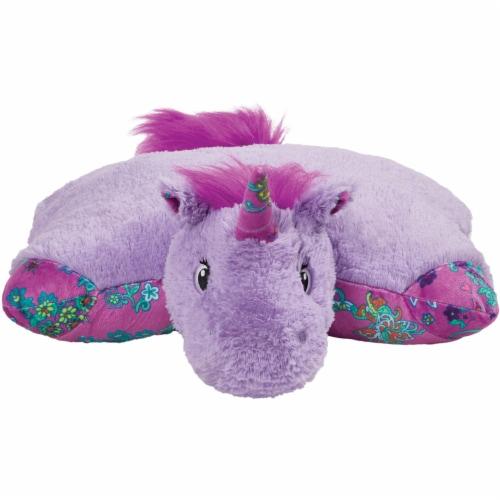 Pillow Pets Colorful Lavender Unicorn Plush Toy Perspective: front