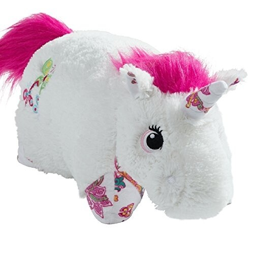 Pillow Pets Colorful Unicorn Large Character Pillow, White Perspective: front