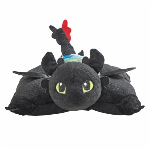 Pillow Pets Sleeptime Lite NBCUniversal Toothless Plush Toy Perspective: front