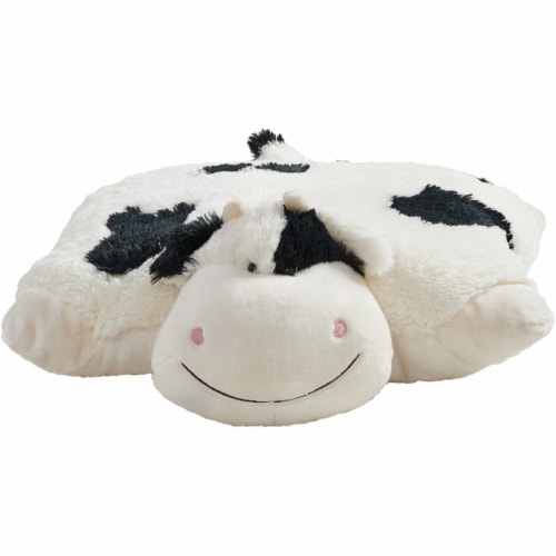 Pillow Pets Jumboz Cozy Cow Plush Toy Perspective: front