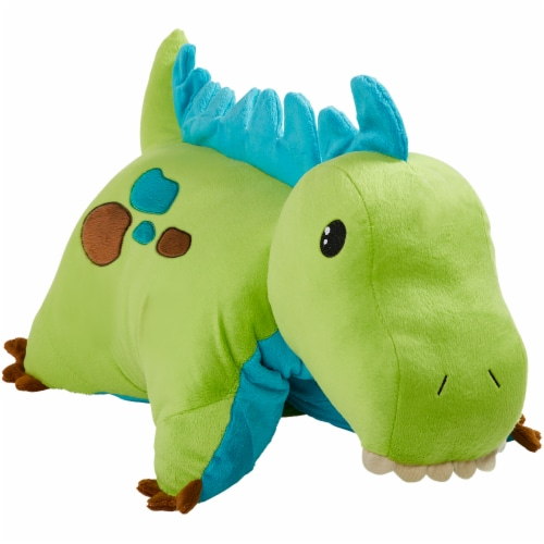 Pillow Pets Dinosaur Plush Toy - Green Perspective: front