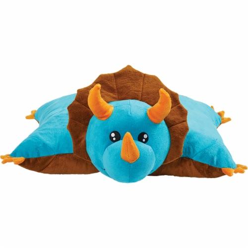 Pillow Pets Dinosaur Plush Slumber Pack - Blue & Green Perspective: front