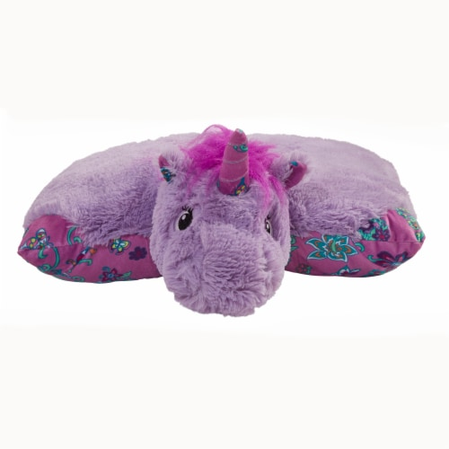 Pillow Pets Unicorn Plush Slumber Pack - Lavender & Pink Perspective: front