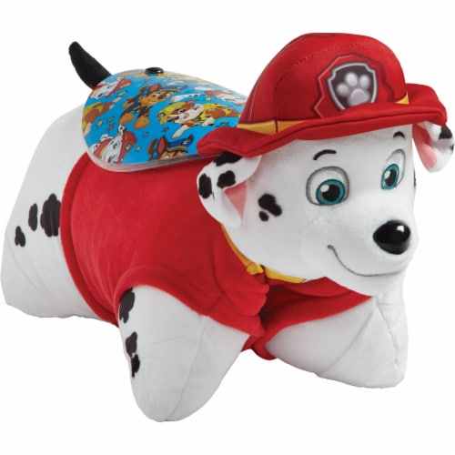 Pillow Pets Sleeptime Lite Nickelodeon Paw Patrol Marshall Plush Toy Perspective: front