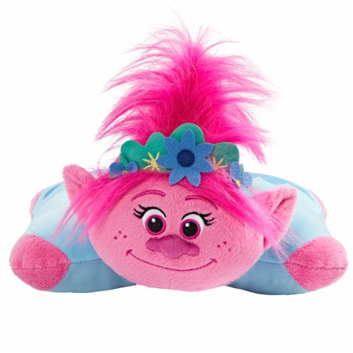 Pillow Pets Sleeptime Lite NBC Universal Trolls 2 Poppy Plush Toy Perspective: front