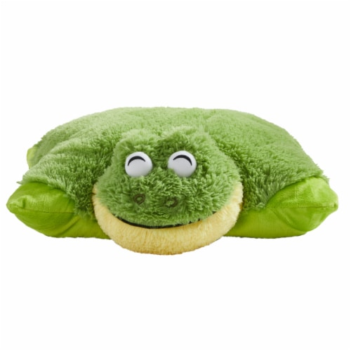 Pillow Pets Original Friendly Frog Plush Toy Perspective: front