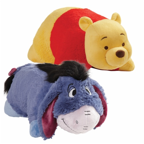 Pillow Pets Disney Winnie the Pooh & Eeyore Plush Toy Combo Pack Perspective: front