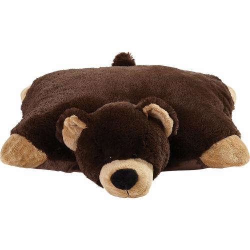 Pillow Pets Jumboz Original Mr. Bear Plush Toy Perspective: front