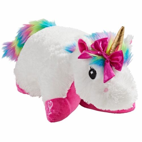 Pillow Pets Nickelodeon Jojo Siwa's Rainbow Unicorn Plush Toy Perspective: front