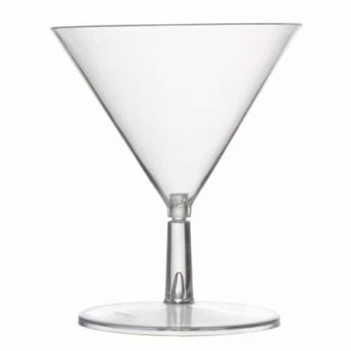 Fineline Settings FINE6401CL Tiny Tinis Martini Glass  Clear - 2 Piece Perspective: front