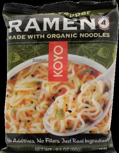 Koyo Garlic Pepper Ramen Made With Organic Noodles Perspective: front