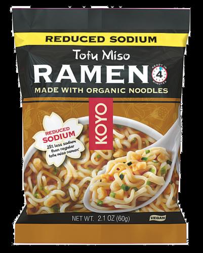 Koyo Reduced Sodium Tofu and Miso Ramen Perspective: front