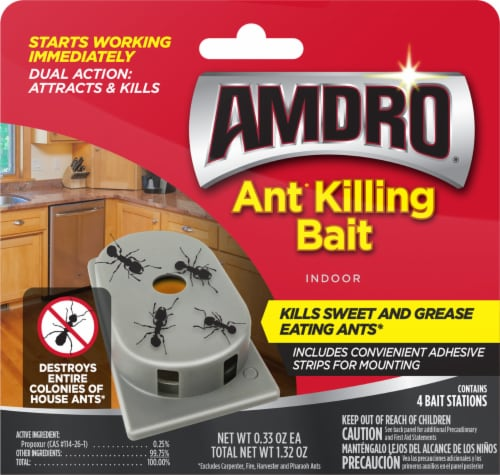 Amdro Ant Killing Bait Stations Perspective: front