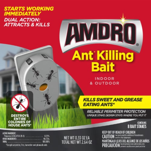 Amdro Ant Killing Bait Stakes Perspective: front