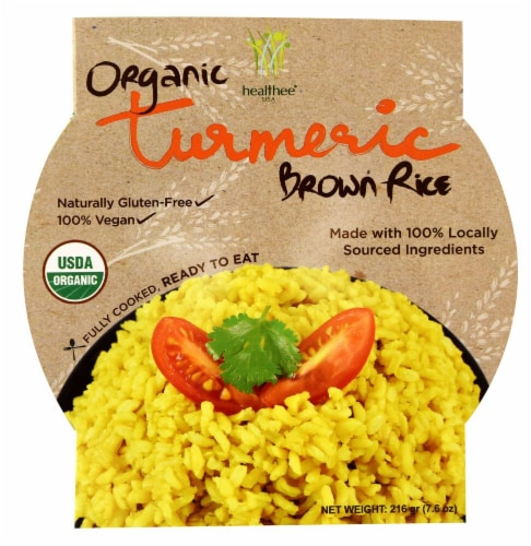 Healthee  Organic Brown Rice Bowl   Turmeric Perspective: front