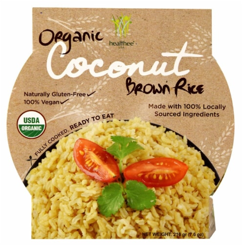Healthee  Organic Brown Rice Bowl   Coconut Perspective: front