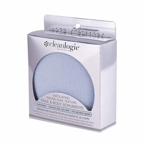 Cleanlogic - Fce&bdy Scrubber Dual Txt - 1 CT Perspective: front