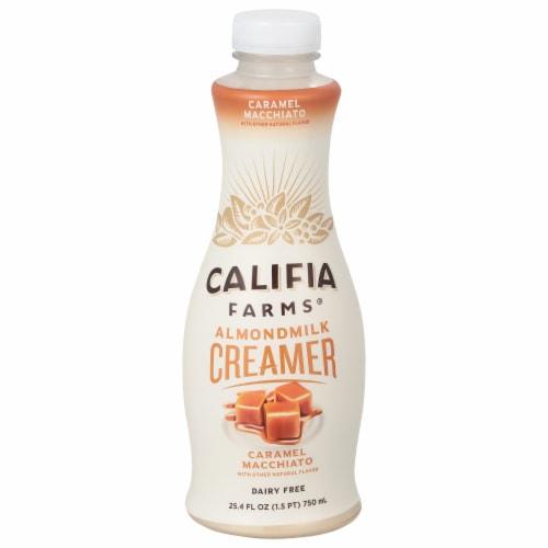 Califia Farms Pecan Caramel Dairy Free Almond Milk Creamer Perspective: front