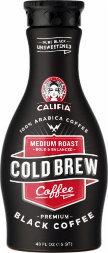 Califia Farms Medium Roast Cold Brew Black Coffee Perspective: front