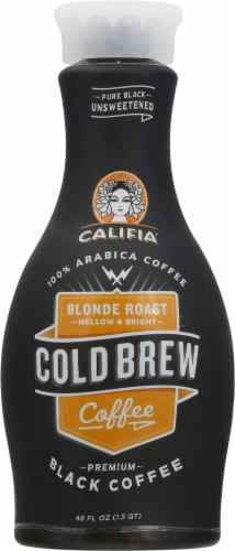 Califia Farms Blonde Roast Cold Brew Black Coffee Perspective: front