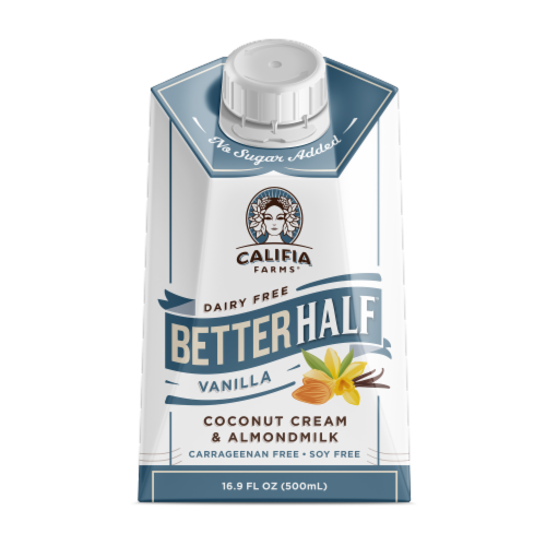 Califia Farms Better Half Vanilla Coconut Cream & Almondmilk Perspective: front