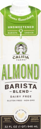 Califia Farms Dairy Free Barista Blend Almond Milk Creamer Perspective: front