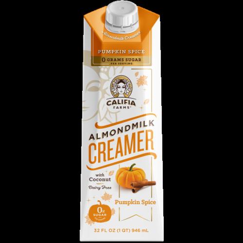 Califia Farms Pumpkin Spice Almond Milk Creamer Perspective: front