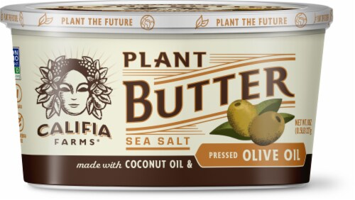 Califa Farms Pressed Olive Oil Sea Salt Plant Butter Perspective: front