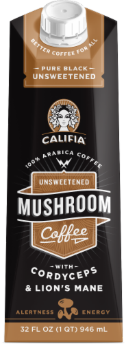 Califia Farms Unsweetened Mushroom Coffee Perspective: front