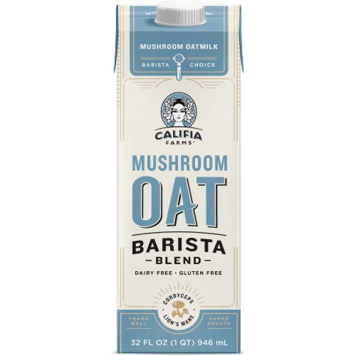 Califia Farms Mushroom Oat Non-Dairy Barista Blend Perspective: front