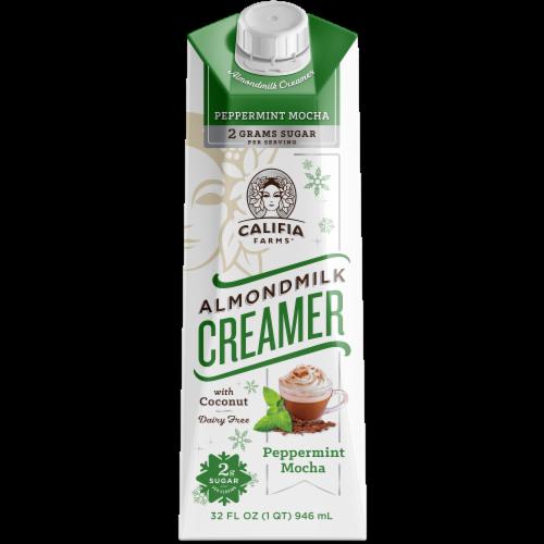 Califia Farms Peppermint Mocha Almondmilk Creamer Perspective: front