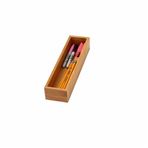 YBM Home 323 Bamboo Drawer Organizer - 3 x 12 Perspective: front