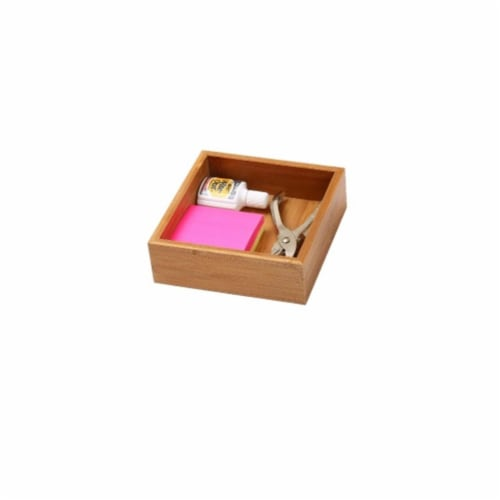 YBM Home 324 Bamboo Drawer Organizer - 6 x 6 Perspective: front