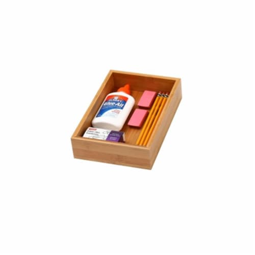 YBM Home 325 Bamboo Drawer Organizer - 6 x 9 Perspective: front