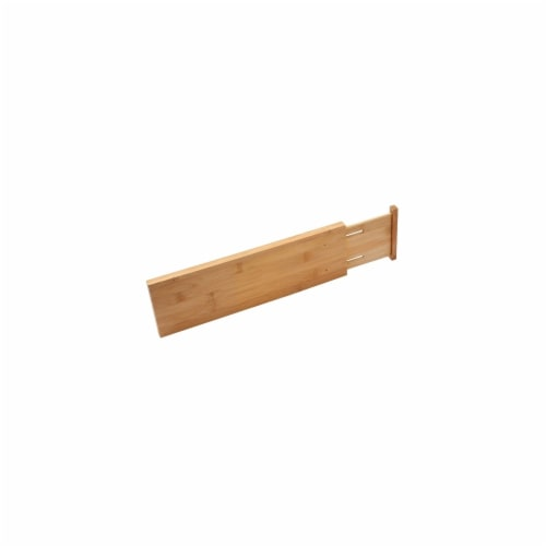 YBM Home 328 Bamboo Deep Kitchen Drawer Dividers Perspective: front